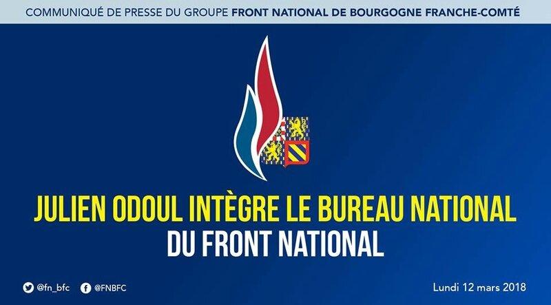 Communiqué Julien Odoul au BN du FN