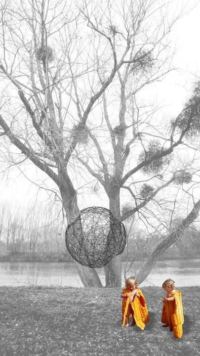 simulation sphère en métal
