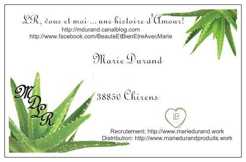Favori Beaut Et Bien Tre Avec Marie Durand LR XY75