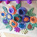 Sac fleurs en crochet