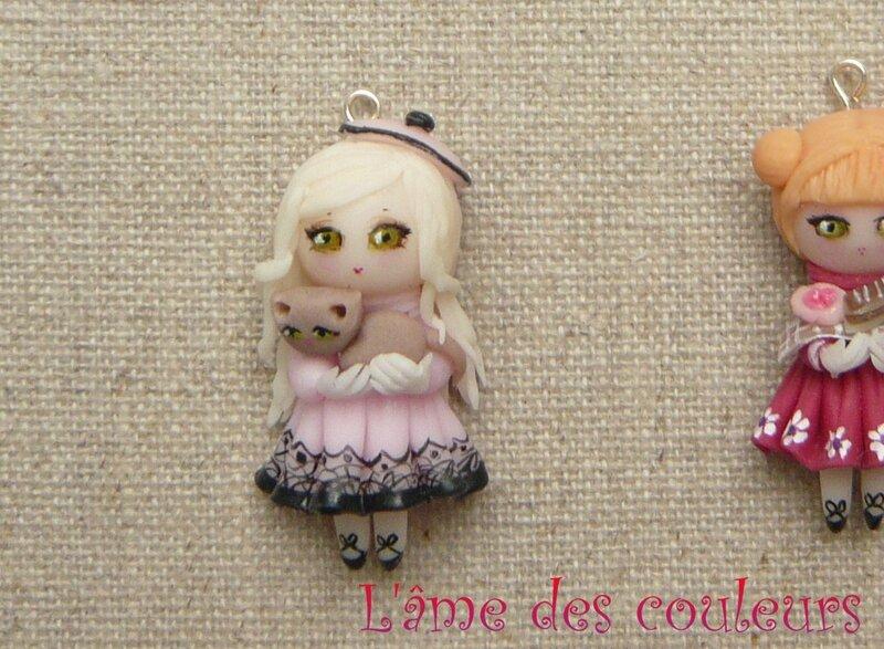 Préférence Pendentif poupée en porcelaine froide - L'âme des couleurs EN69