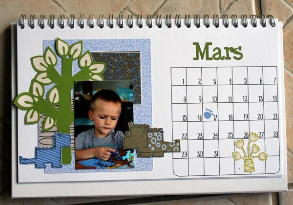 calendrier bureau mars