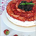 Cheesecake sans cuisson aux fruits rouges - cheesecake sin coccion a las frutas rojas