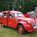 CITROËN 2CV fourgonnette VL feux de cheminée des pompiers 1970 Madine (1)