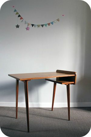 table ou bureau d 39 appoint ann es 50 l 39 atelier du petit parc. Black Bedroom Furniture Sets. Home Design Ideas