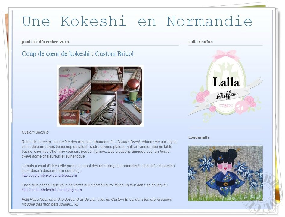 Article Kokeshi 12-12-13