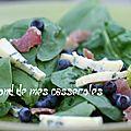Salade des alpages (myrtilles, jambon, fromage)