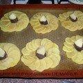 Rosaces de pommes de terre au boudin noir