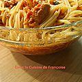 Spaghettis au thon et tomates