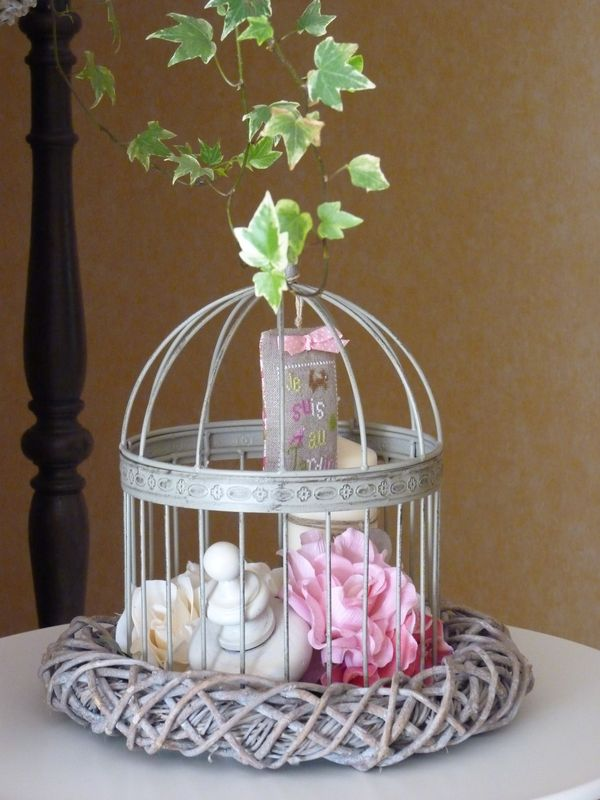 Cage oiseaux photo de atelier d co douce parenth se for Deco cage a oiseaux