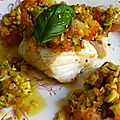 Cabillaud aux petits légumes de provence