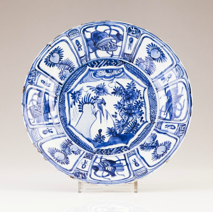 A Blue and white plate, Chinese export porcelain, Ming dynasty, Wanli Period (1573-1619)