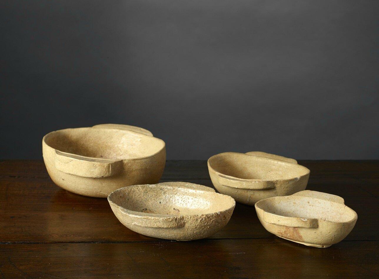 Quatre coupes à oreilles, erbei, Vietnam, Période Hán-Việt, 1er-3e siècle