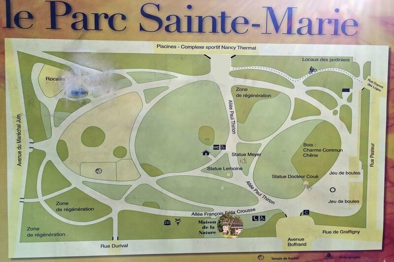 Plan du Parc Sainte-Marie à Nancy