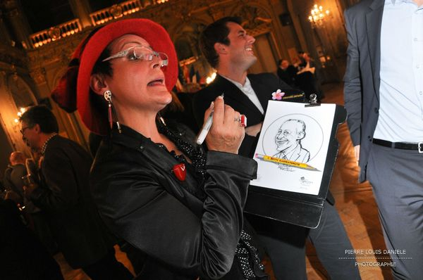 caricaturiste animation soiree gala