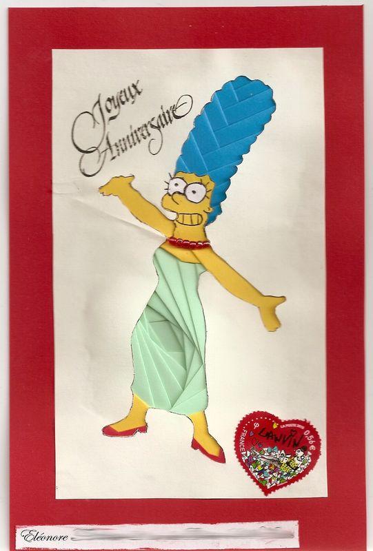 Assez Marge Simpson en iris folding - Les Mails Art de Mlor EH72
