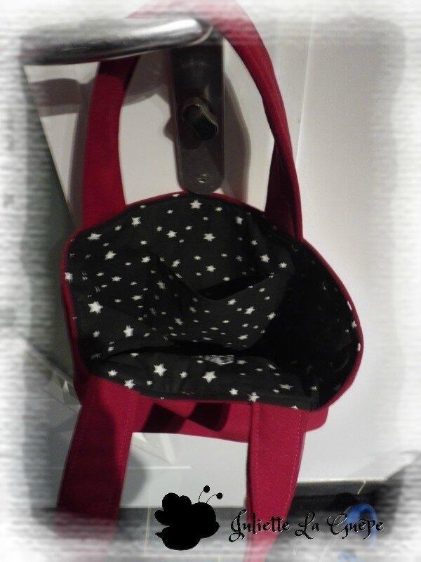 sac à main rose noir étoiles 1