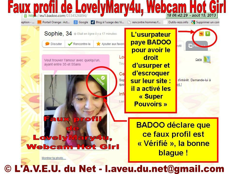 Photo faux profil site de rencontre