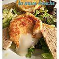 *chèvre chaud à l'amande et salade vinaigrette au balsamique blanc*
