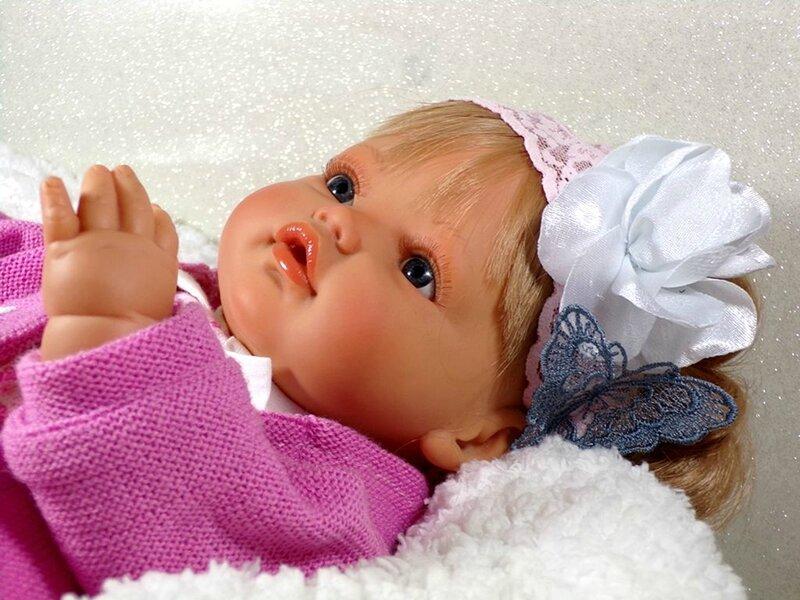 Bandeau cheveux bébé dentelle