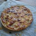 2009 05 06 Quiche au bleu d'Auvergne et tomates faite à l'école