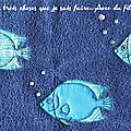 Tapis de bain poissonesque