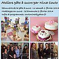 Ateliers pâte à sucre de nina à bordeaux en février...