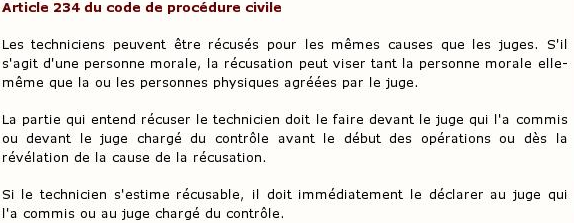 Article 234 du code de procédure civile