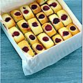 Financiers fleur d'oranger-pignons et framboise-citron