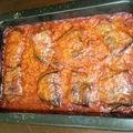 Aubergines grillées à la sauce tomate aux basilic