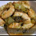 Pâtes soba (au sarrasin) aux crevettes et à la coriandre version épicé