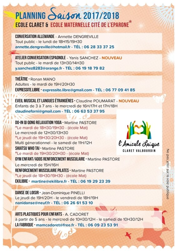 Verso flyer Amicale