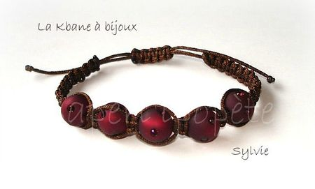 bracelet macramé marron polaris burgundy2