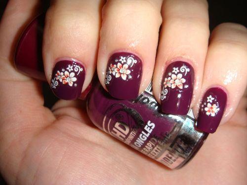 Nail art avec L10 de HD Modelite et stickers