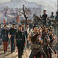 Rixens, Jean-André, Les artilleurs quittent Belfort (1896)