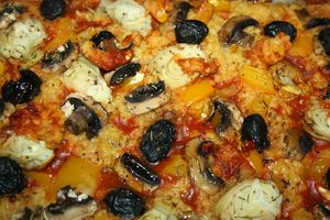 pizza lentilles corail