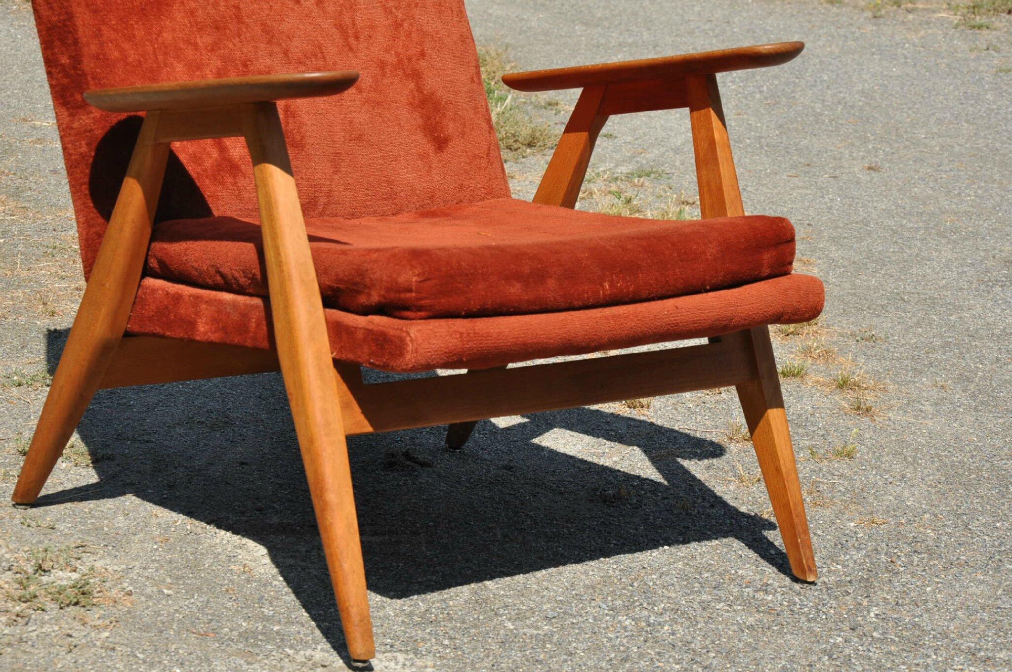 Fauteuil pierre guariche article vendu antiquit s du vingti me - Pierre guariche fauteuil ...