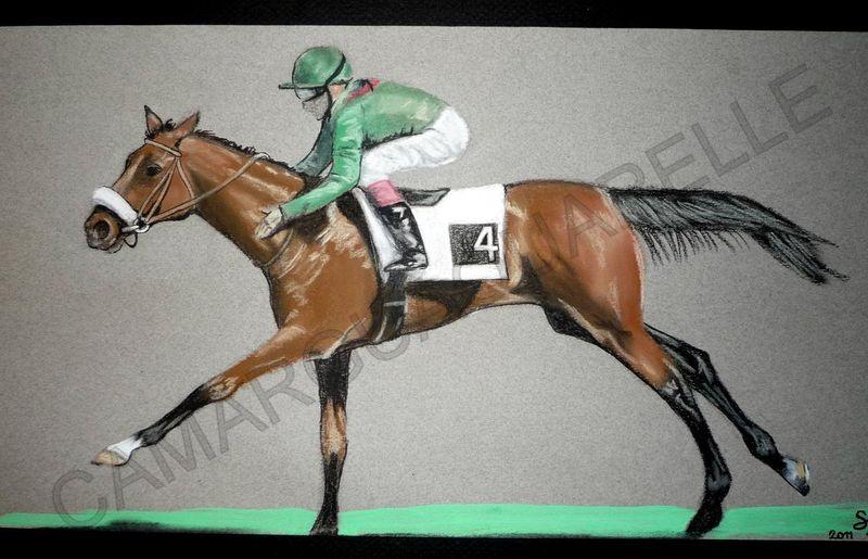 Chevaux de course camarguaquarelle - Dessin cheval de course ...