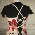 robe tablier fleurs psychélédique vue de dos