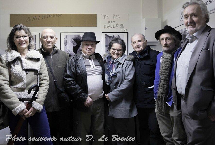 """Vernissage de l'expo """"Macadam"""" et """"des gars d'la rue"""" galerie de U express au centre ville de Saint-Brieuc"""