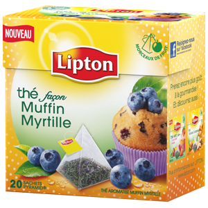 j 39 ai test le th fa on muffin myrtille by lipton blogueuse testeuse. Black Bedroom Furniture Sets. Home Design Ideas
