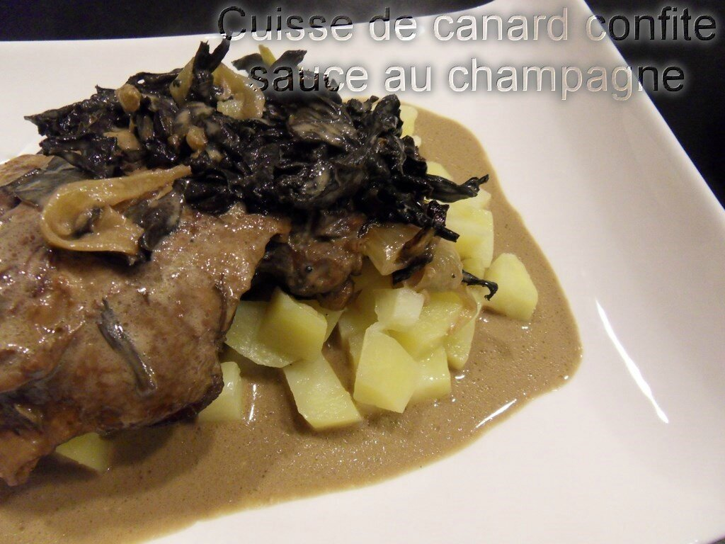 cuisse de canard confite sauce au champagne recettes voyageuses de barbara. Black Bedroom Furniture Sets. Home Design Ideas