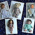 Pyjamas pour poupées et peluches.