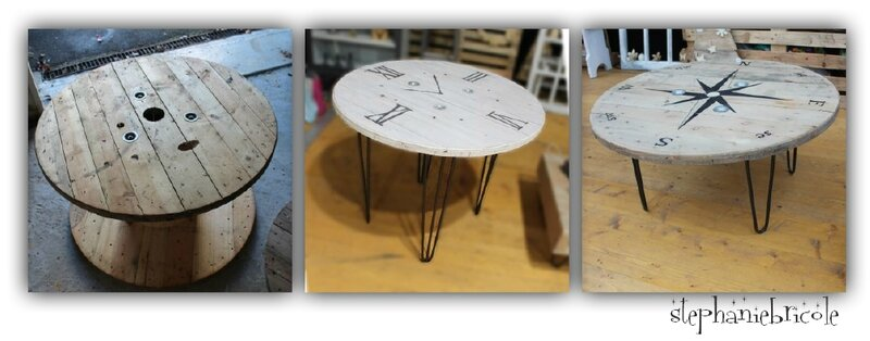 touret table diy