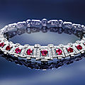 A magnificent cartier art deco ruby and diamond necklace headlines bonhams sale in hong kong