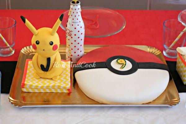 Bien connu Gateau PokeBall - anniversaire Pokemon {tuto en images} - Rose & Cook AG68