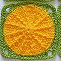 Carré au crochet Sunny Spread jaune