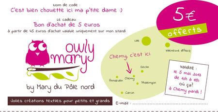 bon d'achat mary du pole nord owly mary chemy