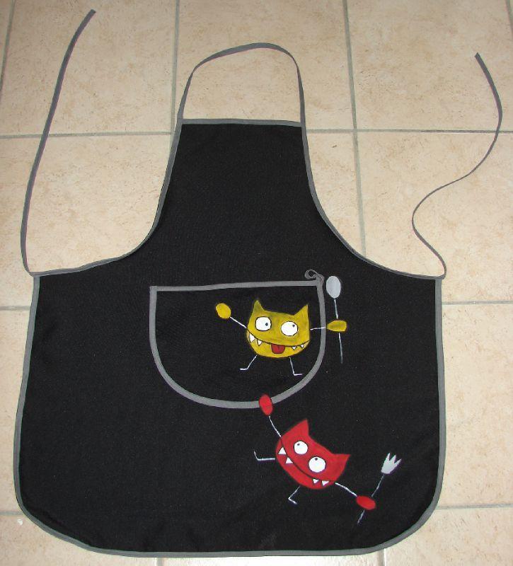 Tablier de cuisine le monde de lujayne for Tablier de cuisine couture