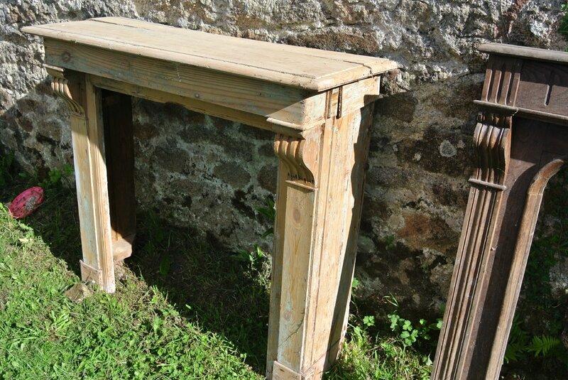 Relooking manteaux de chemin e patin s recyclage et cie - Restaurer cheminee ancienne ...